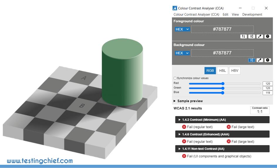 optical illusion color contrast